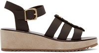 A.P.C. Brown Vivienne Sandals