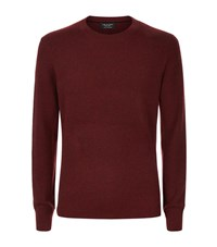 Rag And Bone Crewneck Cashmere Jumper Male Burgundy