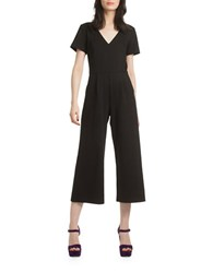Trina Turk Oppurtune Short Sleeve Jumpsuit Black