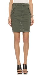 One Teaspoon Artillery Pencil Skirt Khaki