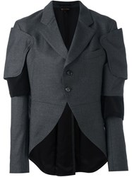 Comme Des Garcons Structured Fitted Jacket Grey