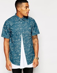 Altamont Wavy Short Sleeve Shirt Blue