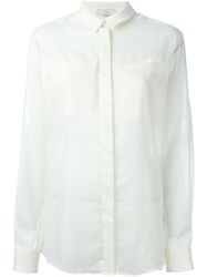 Iro Chest Pocket Sheer Shirt White