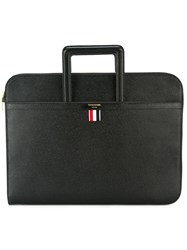 Thom Browne Flat Briefcase Black