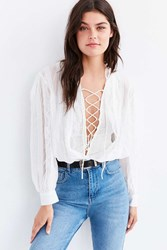 Out From Under Olivia Blouse Bodysuit Ivory