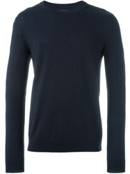 Lanvin Crew Neck Sweater Blue