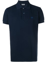 Christian Dior Homme Bee Logo Polo Shirt Blue