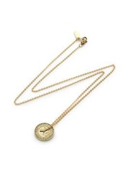 Erica Weiner Small Ny Transit Token Necklace Gold