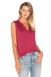 Velvet By Graham And Spencer Cleo V Neck Tank Red