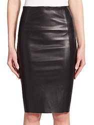 The Kooples Faux Leather Straight Skirt Black