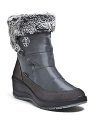 Blondo Teresa Faux Fur Lined Boots Grey