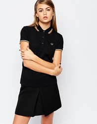 Fred Perry Twin Peak Polo Top Black