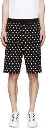 Dolce And Gabbana Black And White Polka Dot Shorts