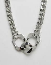 Cheap Monday Cuff Necklace Silver