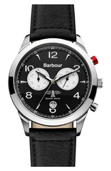 Men's Barbour 'Heritage' Chronograph Leather Strap Watch 42Mm