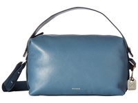 Skagen Ronne Satchel Smokey Blue Satchel Handbags