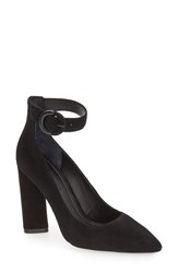 Kendall Kylie Women's 'Gloria' Pointy Toe Ankle Strap Pump Black Suede
