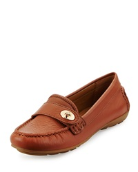 Coach Flash Leather Loafer Saddle