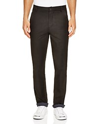 Native Youth Contrast Cuff Slim Fit Chinos Black