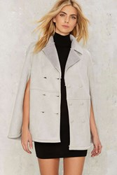 Chase Shearling Cape Gray