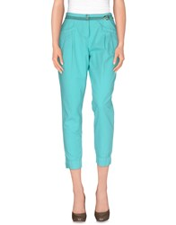 Trussardi Jeans Trousers Casual Trousers Women Turquoise