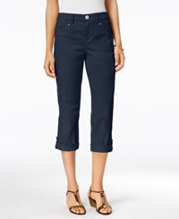 Styleandco. Style Co. Cropped Cargo Pants Only At Macy's Industrial Blue