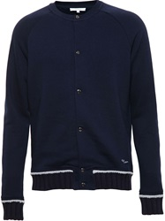 Carven Jersey Teddy Boy Jacket Blue