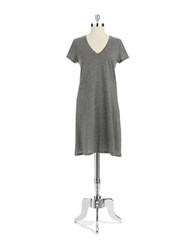 Lord And Taylor Striped Nightgown Grey