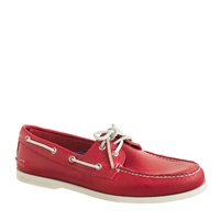 Men's Sperry Top Sider For J.Crew Authentic Original 2 Eye Boat Shoes Crimson
