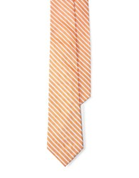 Lauren Ralph Lauren Striped Silk Tie Orange