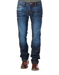 Cult Of Individuality Rebel Straight Leg Jeans Blue