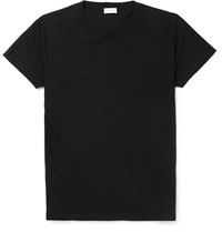 Saint Laurent Cotton Jersey T Shirt Black
