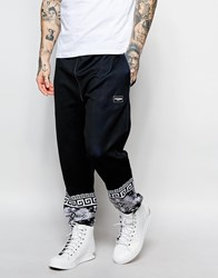 Jaded London Joggers With Tapestry Print Black