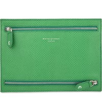 Aspinal Of London Multi Currency Leather Wallet Green