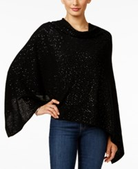 Charter Club Cashmere Sequined Poncho Only At Macy's Classic Black