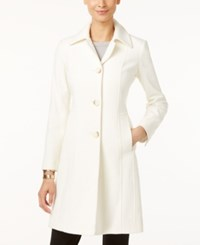 Anne Klein Petite Wool Cashmere Blend Walker Coat Only At Macy's Ivory
