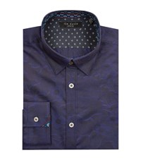 Ted Baker Themack Jacquard Shirt Male Blue