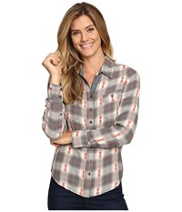 Aventura Clothing Joey Long Sleeve Top Smoked Pearl Women's Long Sleeve Button Up Gray