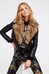 Free People Womens Vegan Moto W Fur Shawl