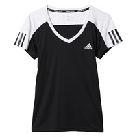 Adidas Tennis Club T Shirt Black White