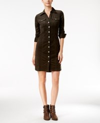 Inc International Concepts Corduroy Shirtdress Only At Macy's Venetian Moss