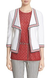 St. John Women's Collection 'Clair' Rever Collar Three Quarter Sleeve Jacket