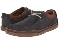 Clarks Trapell Pace Navy Nubuck Men's Lace Up Casual Shoes Blue