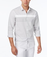 Inc International Concepts Men's Tracery Shirt Only At Macy's White