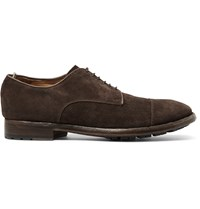 Officine Creative Princeton Suede Derby Shoes Brown