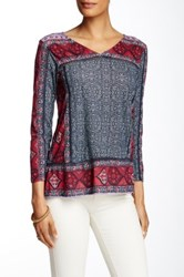 Lucky Brand Batik Flowers Tee No Color