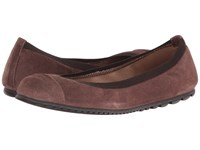 French Sole Tempo Taupe Velour Suede Women's Flat Shoes
