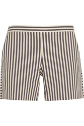 Tory Burch Marit Striped Cotton Blend Shorts White