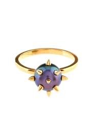 Nektar De Stagni Peacock Pearl And Gold Plated Ring