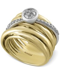 Effy Collection Duo By Effy Diamond Stack Look Ring 3 4 Ct. T.W. In 14K White And Yellow Gold Two Tone